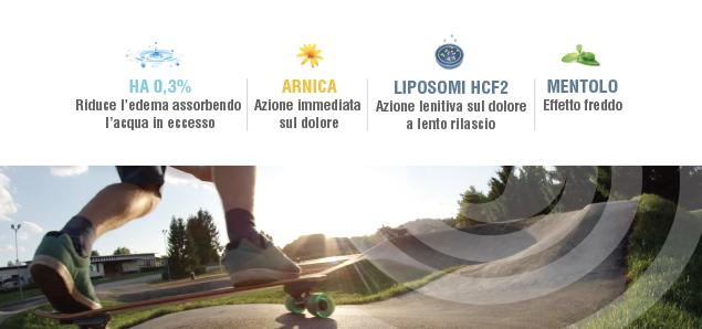 HA 0,3% - Arnica - Liposomi HCF2 - Mentolo